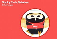 Flipping Circle Slideshow