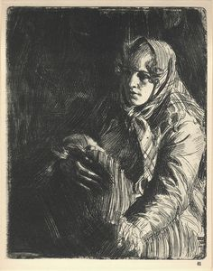 ANDERS LEONARD ZORN (Swedish, A Swedish Madonna, 1900 Etching and drypoint x inches x cm) (plate) AP Signed with artist's monogram, dated, and inscribed in plate lower right Signed in pencil lower margin Sketchbook Drawings, Art Drawings, Sketches, National Gallery Of Art, Life Drawing, Painting & Drawing, Madonna, Inspirational Artwork, Art Moderne