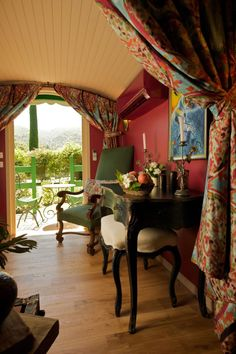 """This 182 square foot trailer called La Roulotte is meant to offer """"the magical atmosphere of gypsy nights"""""""