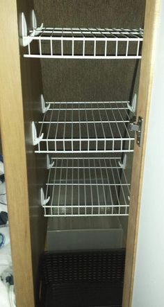 Brilliant Rv Clothes Storage Rv Closet Storage Wire Shelves With Command Hooks C… Brilliant Rv Kleidung Lagerung Rv Closet Storage Wire Regale Mit Befehlshaken Camping Trailer Storage, Camper Storage, Closet Storage, Storage Hooks, Bedroom Storage, Caravan Storage Ideas, Diy Hooks, Diy Bedroom, Storage Ideas For Campers
