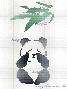free- panda 2 Cute Cross Stitch, Cross Stitch Animals, Cross Stitch Embroidery, Cross Stitch Patterns, Panda Craft, C2c Crochet, Oriental, Teddy Bear, Chart
