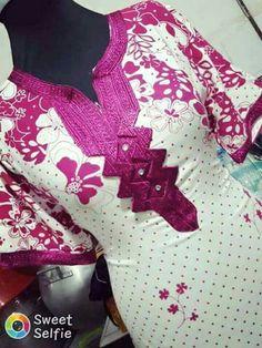 Screenshot Dress Neck Designs, Designs For Dresses, Estilo Abaya, Embroidery On Clothes, Couture, Pyjamas, Hijab Fashion, African Fashion, Women Wear