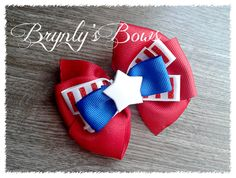 4th of July Pinwheel Bow - $4