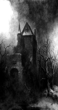 Dark Gothic, Gothic Art, Dark Fantasy Art, Dark Art, Spooky Places, Haunted Places, Creepy Art, Scary, Art Sinistre
