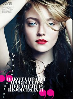 """dakota fanning in """"flore""""?. i like the image because of the color"""