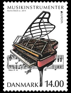 Musical Instruments Issued by Denmark for the Europa Stamps! #denmark #europa #stamps http://wopa-stamps.com/index.php?controller=country&action=stampRelatedIssue&id=11799