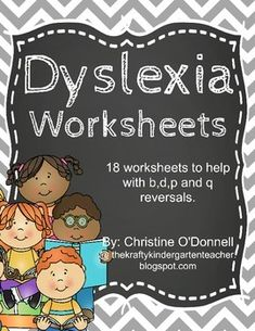 This set now contains 48 worksheets designed to help children practice the common reversals of b,d,p and q. Dyslexia Strategies, Dyslexia Activities, Dyslexia Teaching, Reading Strategies, Literacy Worksheets, Kids Education, Special Education, Gifted Education, Kindergarten Classroom