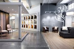 Silverwood Flooring Showroom | Lounge and Karelia Wall