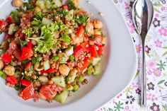 Energy Protein and Power Salad | Oh She Glows, Angela Liddon guest post | FamilyFreshCooking.com