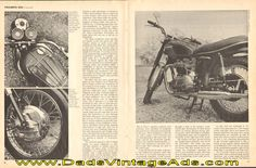 1968 Triumph TR6R 650 Trophy Sports Motorcycle Road Test / Specs