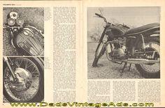 1968 Triumph TR6R 650 Trophy Sports Motorcycle Road Test / Specs
