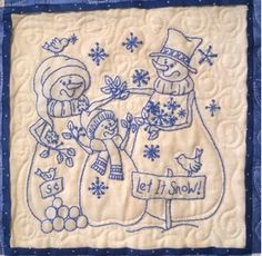 Picture of Snow Much Fun Quilt BLUE Complete Packet - ME
