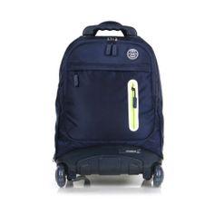 NEW Wheelpak Rolling Wheeled Backpack Travel Bag Kids School Bookbag / NAVY