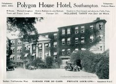 1926 advert for the Polygon House Hotel. 'Warmed throughout'! Southampton England, Old Pictures, Roots, Lawn, The Past, Places, House, Haus, Homes