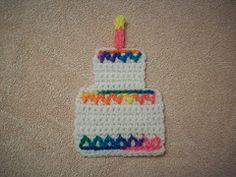 Birthday Wishes Coaster - Free Crochet Pattern