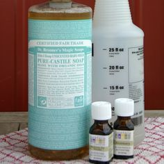 DIY All-Purpose Pine Cleaner 32 ounces hot water 1-1/2 teaspoons liquid castile soap such as Dr. Bronner's 6 drops fir needle essential oil 4 drops rosemary essential oil The water should be hot, for better blending.The quantities of essential oils are adjustable to your personal preferences — feel free to use either more or less. Mix well and store in a spray bottle. I spray the solution directly onto the floor and use my microfiber mop. No rinsing was needed.