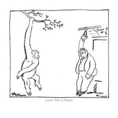 700,000 Years of Progress - New Yorker Cartoon