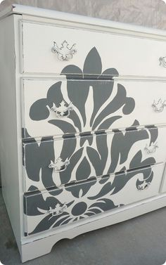 Gil: Customização de comodas, reciclando cômodas com vários materiais, stencil, papel de parede, tecido ou usando apenas a cor.