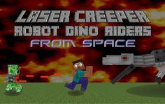 Creeper & Robot Dino Mod Minecraft 1.7.10 - http://www.minecraftjunky.com/creeper-robot-dino-mod/
