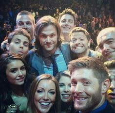 CW and my tv husband, Jensen Ackles