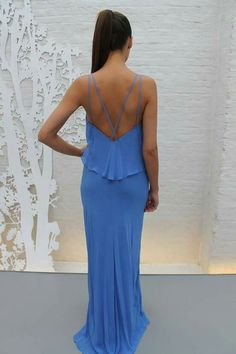 The colour of the #sea #maxis #maxidresses #to #the #floor #length #blue #women #womenswear #womens #pinko