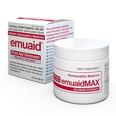 Emuaid MAX First Aid Ointment - For Eczema Acne Dermatitis Psoriasis. for sale online Vicks Vaporub, Ingrown Toe Nail, Homeopathic Medicine, Nail Fungus, First Aid, Toe Nails, Fungi, The Cure, Conditioner