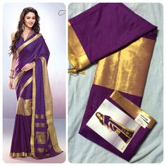 """Weekend saree sale"" Pls call/whatsapp +919600639563. Code: ddc purple Price: 2799/- Material: Soft cotton. For booking and further details pls call or whatsapp us at +919600639563. Happy shopping y'all :) Be Beautiful :)"