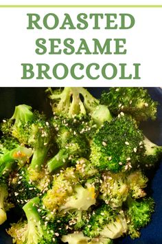 This roasted broccoli is my new favorite side! With a nutty flavor and slight crispiness, it gives broccoli a whole new spin! Side Dish Recipes, Vegetable Recipes, Vegetarian Recipes, Healthy Recipes, Easy Vegetable Side Dishes, Make Ahead Breakfast, Weeknight Meals, Food Print, Broccoli