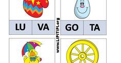 Fichas para jogo pedagógico com sílabas