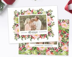 Card, Album, Senior, Newborn Photography Templates by hazyskiesdesigns Christmas Card Template, Christmas Cards, Photography Templates, Card Templates, Newborn Photography, Etsy Seller, Merry, Album, Creative