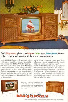 Vintage Tv Ads, Vintage Advertisements, Vintage Prints, Color Television, Vintage Television, Radios, Tvs, Mid-century Interior, Retro Advertising