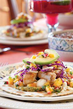 Cinco de Mayo | Baja Fish Tacos with Mango Salsa #recipe #cincodemayo