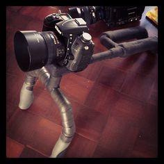 Zach's homemade camera shoulder rig!