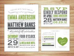 Typography WEdding invite