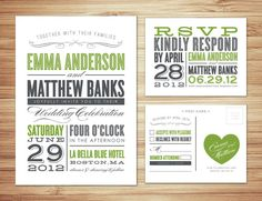 Typography WEdding invite