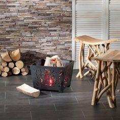 Palenisko Fire Basket 40x40x30cm metal, 40x40x30cm - Dekoria