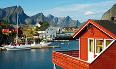 Reine, Norway  North of the Arctic Circle, Reine is a pretty fishing village in the Lofoten archipelago, an area of starkly beautiful Nordic...