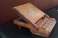 Vintage Wood Piano Cigarette Dispenser Holder Tobacciana