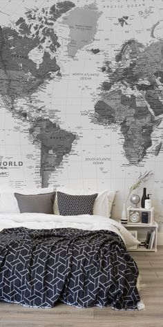 Consider doing a Puget Sound black-white-map-wall-mural