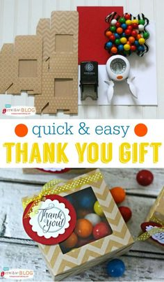 Easy to make Thank You gift idea for co-workers, teachers, delivery people and more. See more on TodaysCreativeLife.com