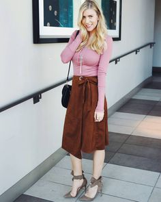 @raspberryglow throwing out flirty vibes in our suede skirt and free people top <3
