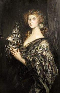 ▴ Artistic Accessories ▴ clothes, jewelry, hats in art - James Jebusa Shannon | The Silver Ship