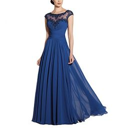 Vivebridal Women'S Chiffon Scoop Cap Sleeve Long Mother Formal Dress Blue 2 Vivebridal http://www.amazon.com/dp/B0126URKPO/ref=cm_sw_r_pi_dp_58ZSvb1JK2J0E