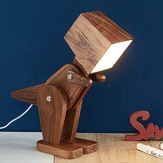 Kids Desk Lamp, Wooden Desk Lamp, Table Lamp Wood, Wood Lamps, Wood Clocks, Wood Desk, Wood Shop Projects, Small Wood Projects, Woodworking Projects Diy