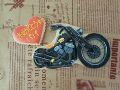 Detailed motorcycle cookie!   バイククッキーの画像(1/2) :: ★お絵菓子帳★