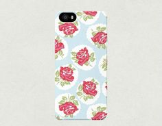 Large Illustrated Red Roses on Blue iPhone 4 4s 5 5s 5c Samsung Galaxy S3 S4 Case £12.00 $20.00   with FREE shipping to the United Kingdom!