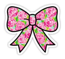 Lilly Pulitzer Inspired Bow First Impression Sticker
