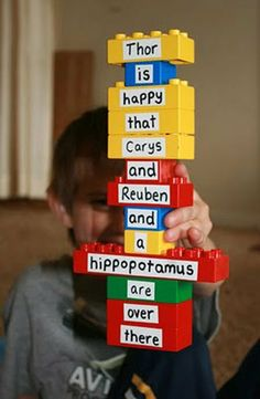 Repurposing Duplo Blocks with Words and Letters