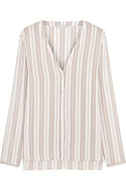 Lara striped voile pajama shirt