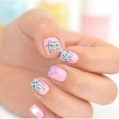 We #love these #pusheen nails  SO CUTE! Shop our @pusheen range in store and online now Nail Art by @yokonailart  #manimonday